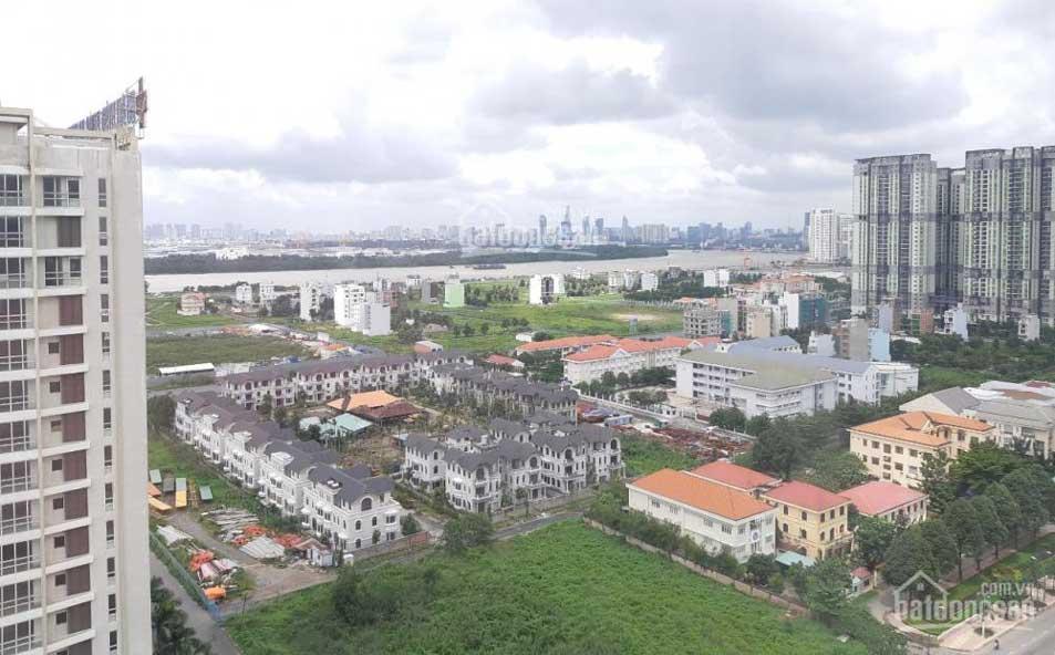 Nhìn về khu Novaland và dòng sông Sài Gòn ở xa xa