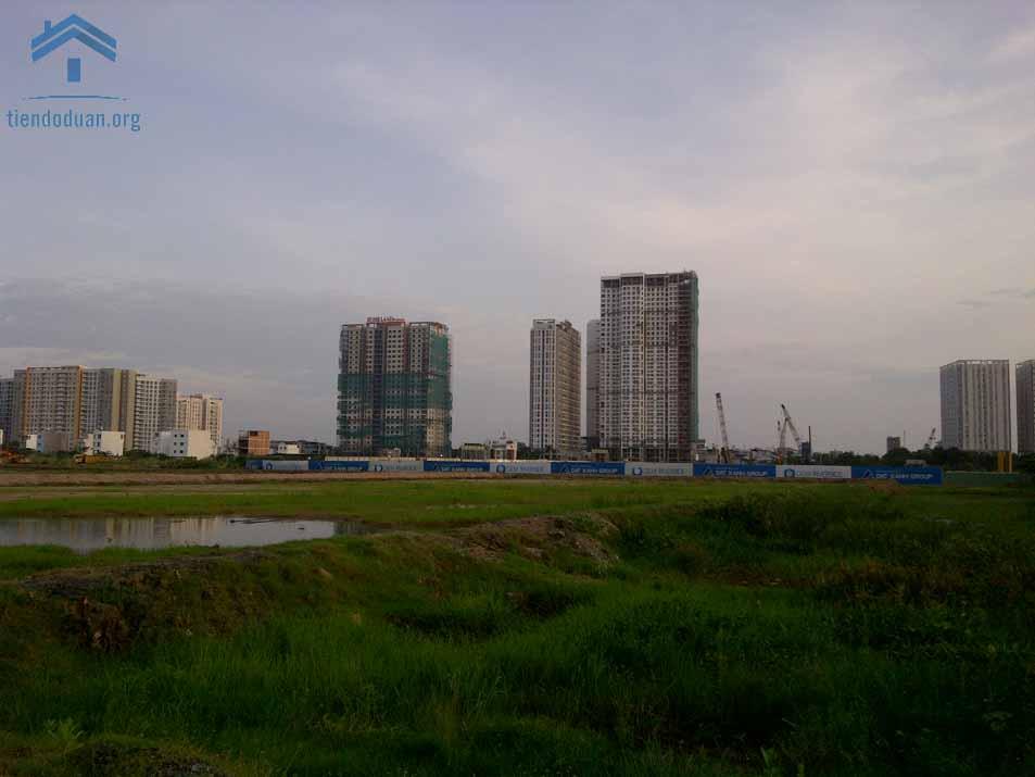 Gem Riverside nhìn từ cầu Mương Kinh