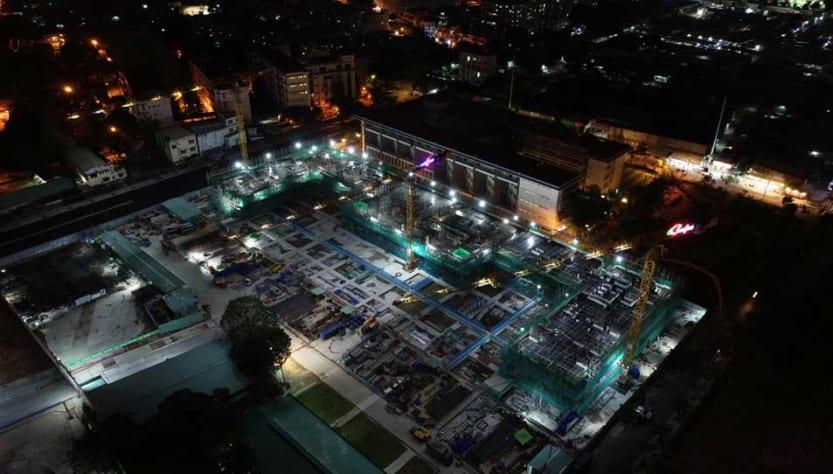 Công trường đêm dự án căn hộ Kingdom 101