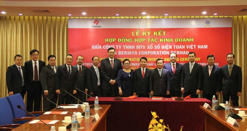 Hợp tác kinh doanh Vietlot và Berjaya