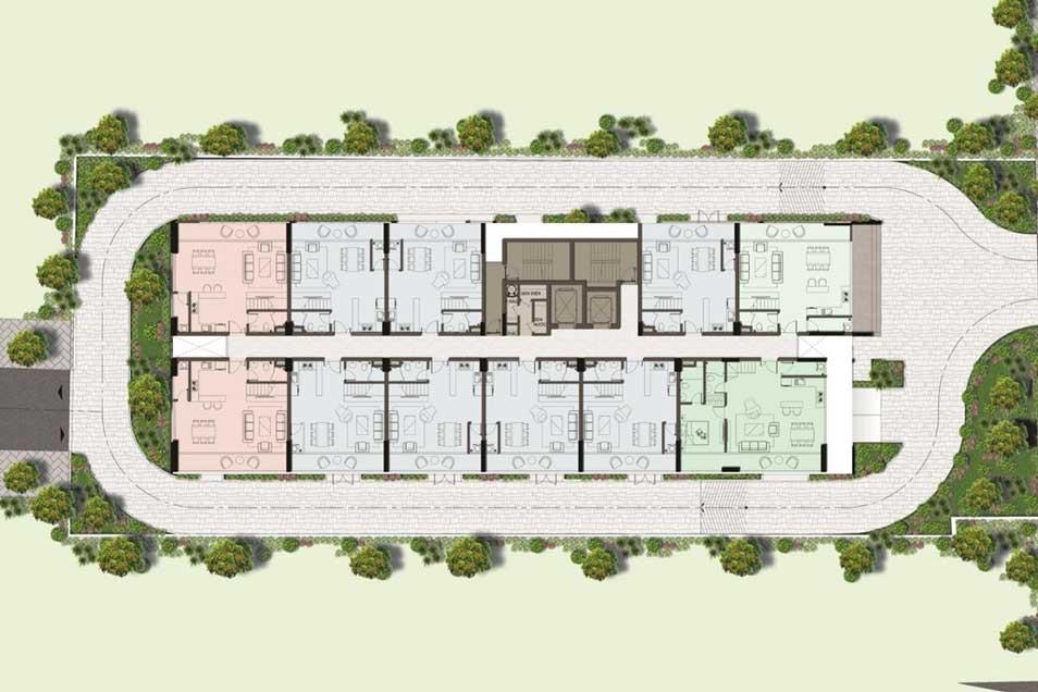 Mặt bằng tầng duplex căn hộ Harina View
