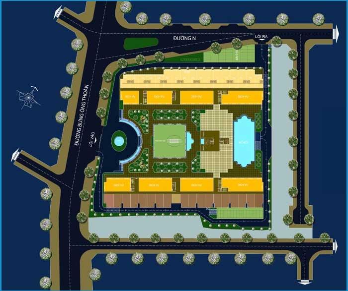 Mặt bằng tổng thể dự án NOXH River Park Quận 9