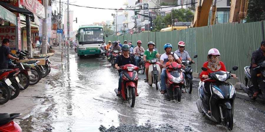 Nâng cấp tuyến đường Huỳnh Tấn Phát