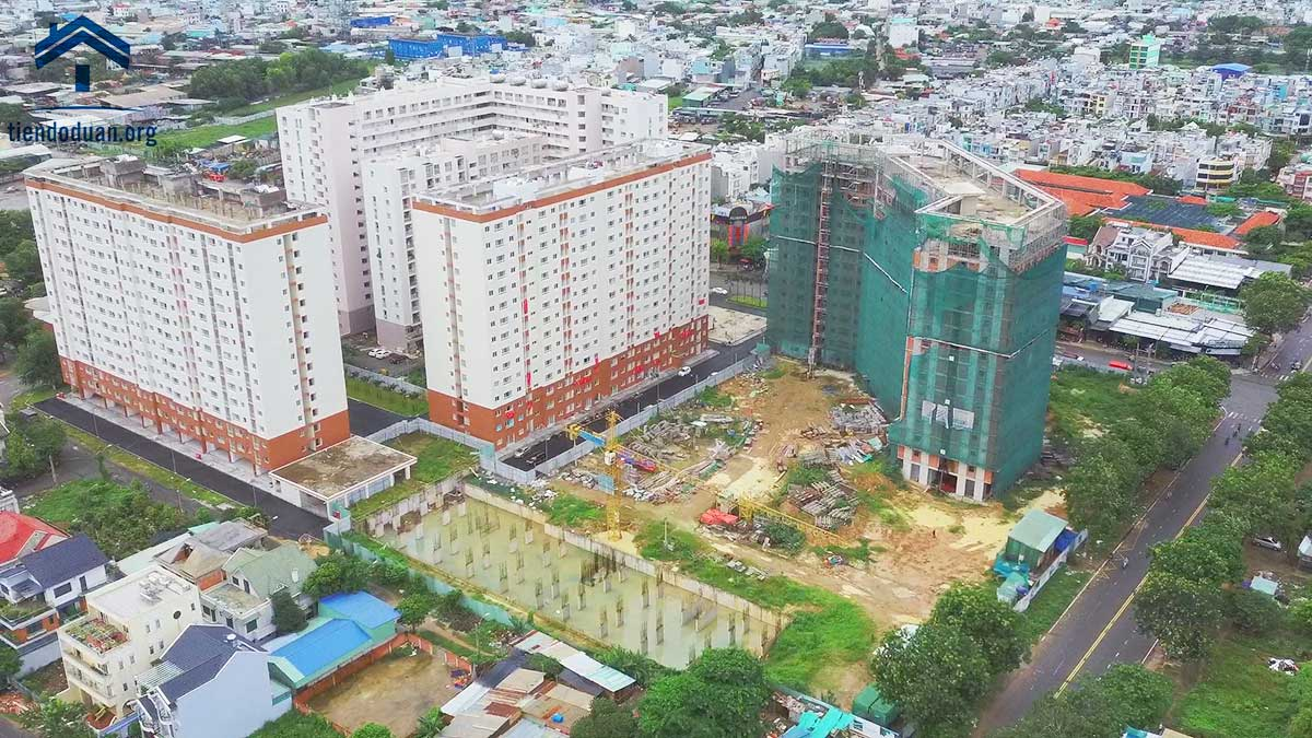 Tiến độ dự án Green Town Bình Tân tháng 08/2020
