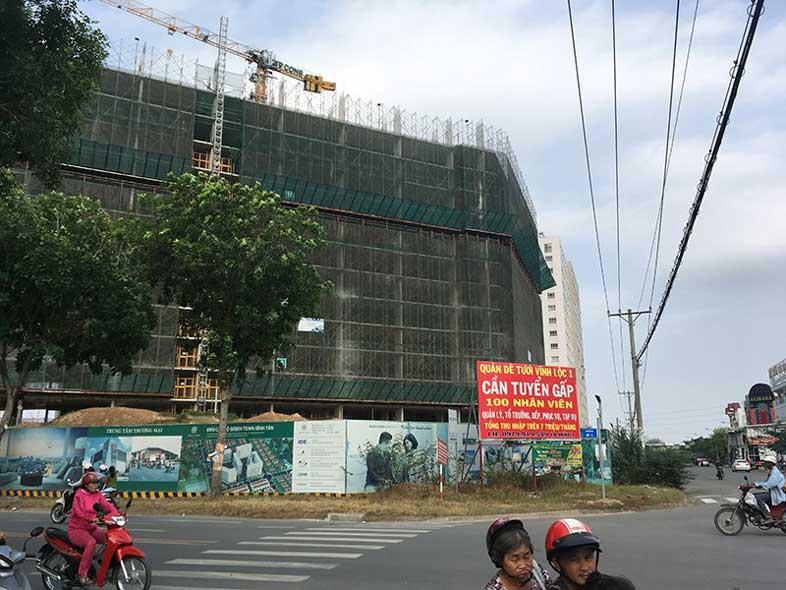 Tiến độ block B1 dự án Green Town
