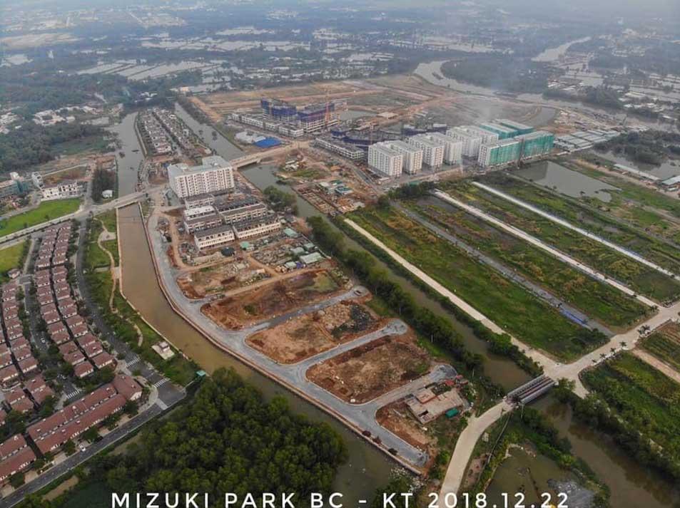 Tiến độ dự án Mizuki Park