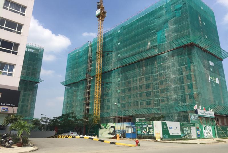 tiến độ thực tế dự án Green Town