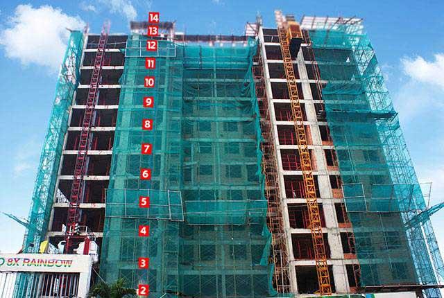 Photo of Tiến độ xây dựng căn hộ 8X Rainbow tháng 12/2016