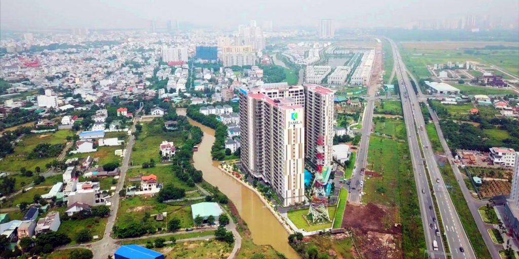 Jamila Khang Điền tọa lạc tại mặt tiền đường Song Hành Cao Tốc