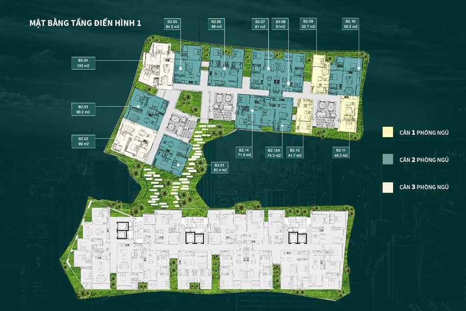Mặt bằng thiết kế dự án Victoria Garden