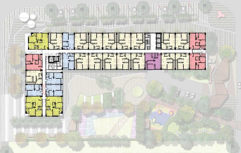 Thiết kế mặt bằng block C1 căn hộ Pi City