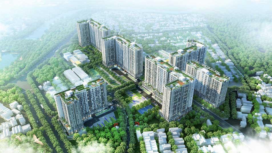 Tổng thể dự án căn hộ Pi City