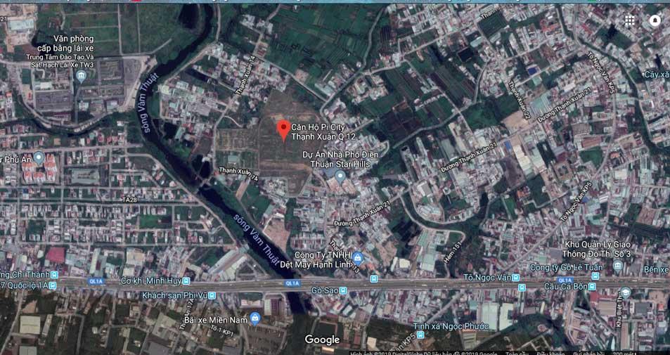 Hình vệ tinh dự án Pi City