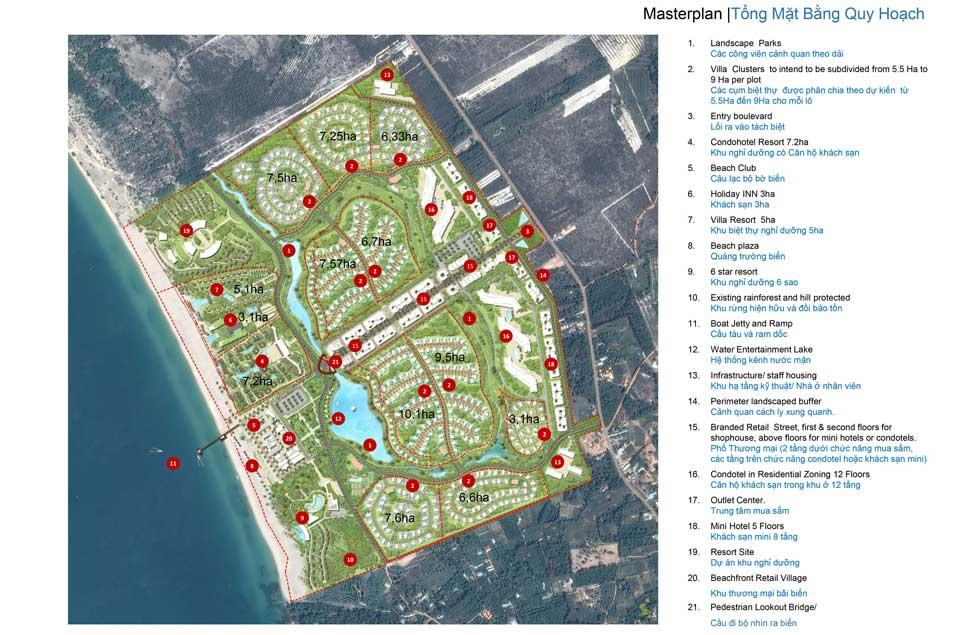 Tổng thể thiết kế dự án Shangrila Beach