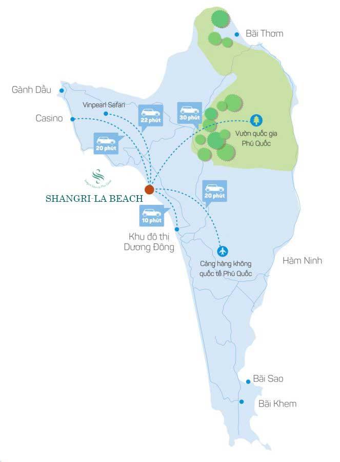 Vị trí dự án Shangri-La Beach