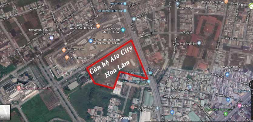 Vị trí dự án căn hộ Aio City