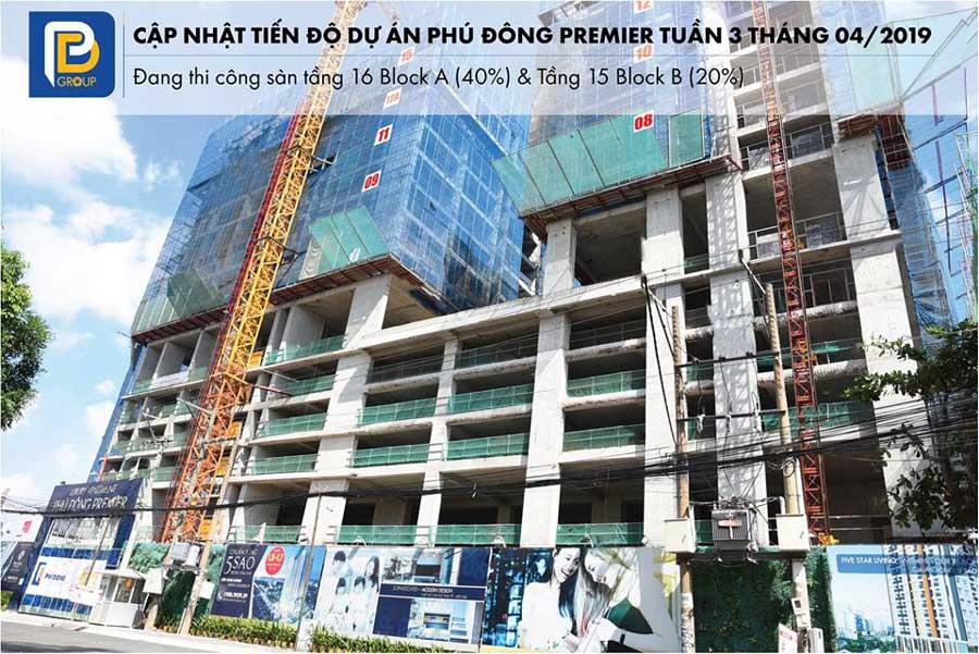 Tiến độ căn hộ An Phú Đông Premier