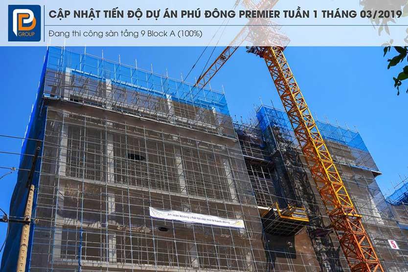 Tiến độ dự án căn hộ Phú Đông Premier
