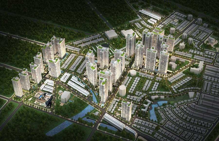 Phối cảnh tổng thể dự án Raemian City