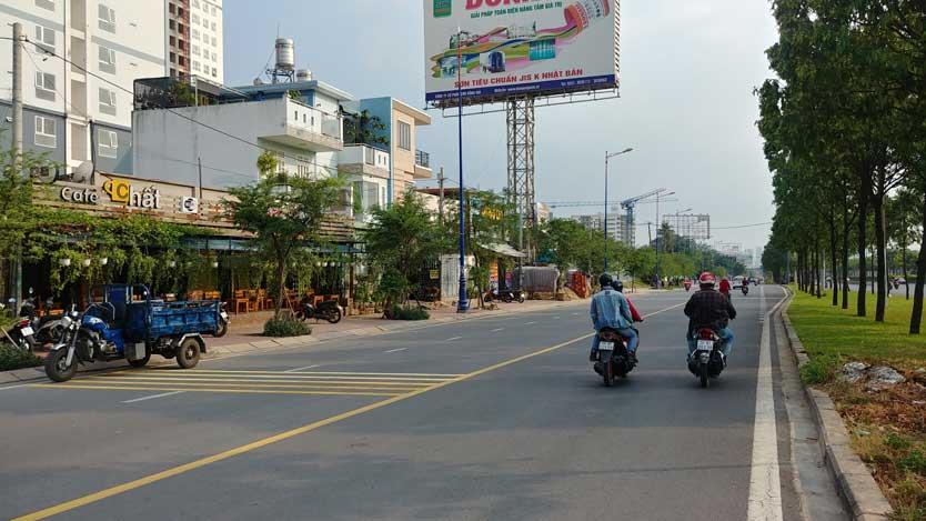 Tổng thể đường Song hành trước dự án Saigon Gateway