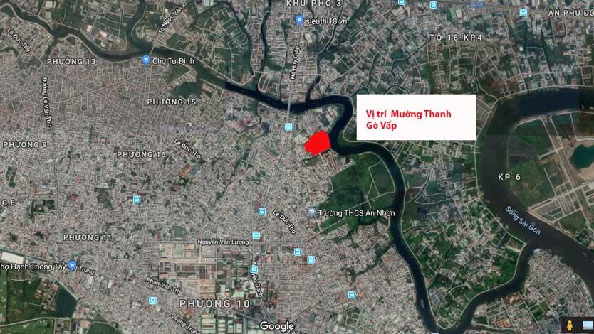 Vị trí dự án Mường Thanh Gò Vấp trên bản đồ vệ tinh