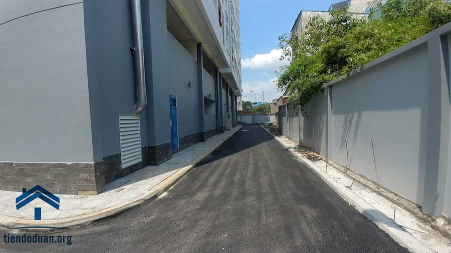 Đường nội khu bao quanh dự án