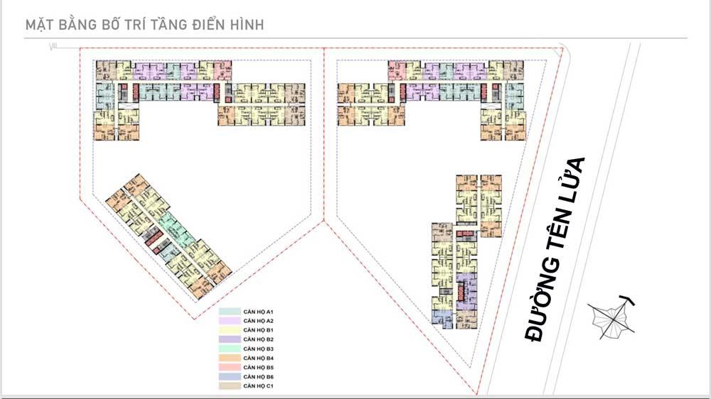 Mặt bằng tầng điển hình dự án Aio City - Hoa Lâm