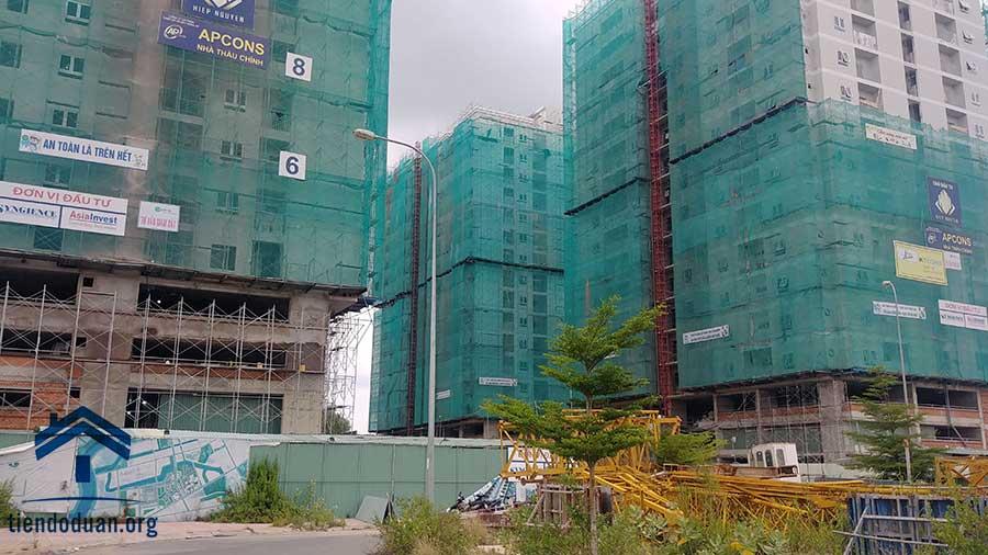 Dự án Orchid Park đang hoàn thiện thô