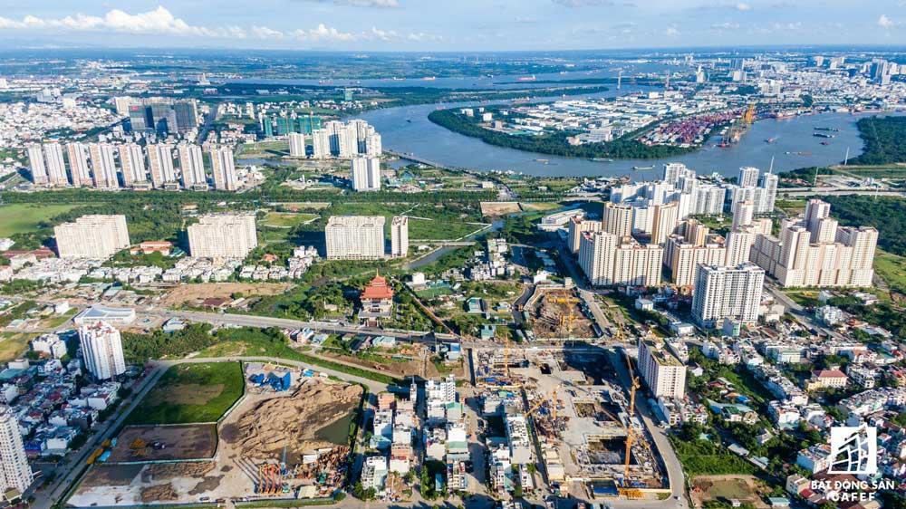 View nhìn khu chế xuất Tân Thuận quận 7