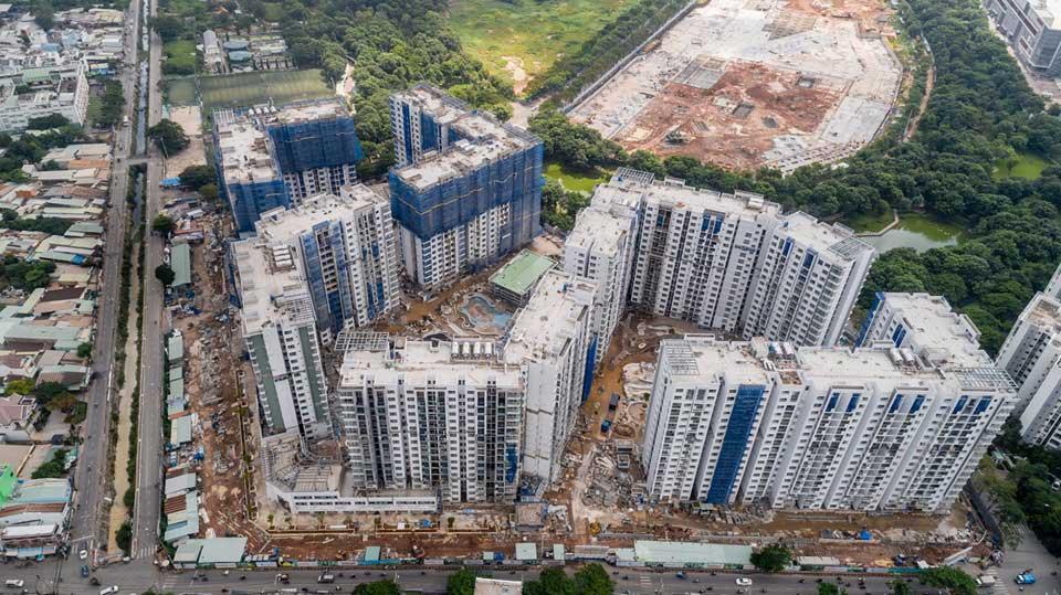 Flycam tiến độ dự án căn hộ Celadon City tháng 09/2019