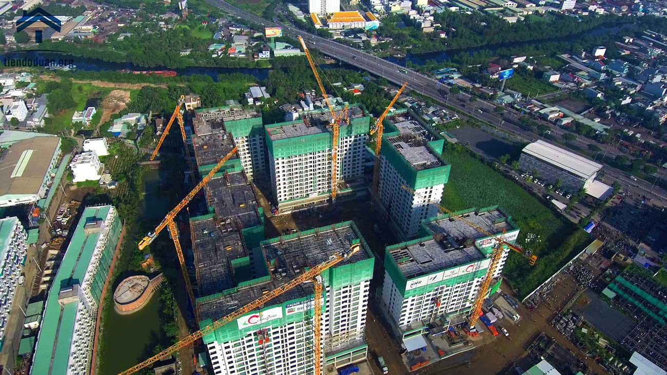 Tổng thể công trường dự án Akari City tháng 07/2020