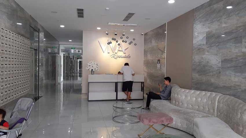 Tiền sảnh đón khách dự án Viva Riverside