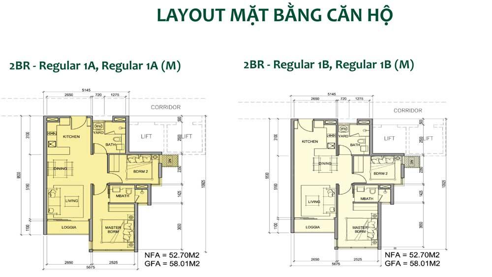 Thiết kế căn hộ 2 phòng ngủ dự án Metro Star quận 9