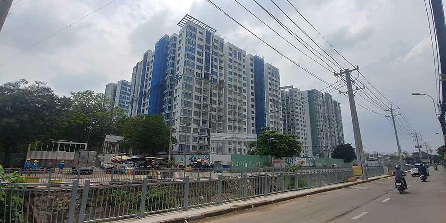 View dự án Celadon City từ đường kênh 19/5