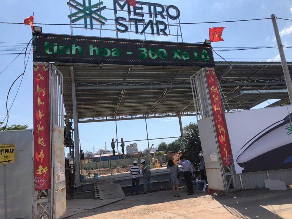 Hình ảnh công trường dự án căn hộ Metro Star