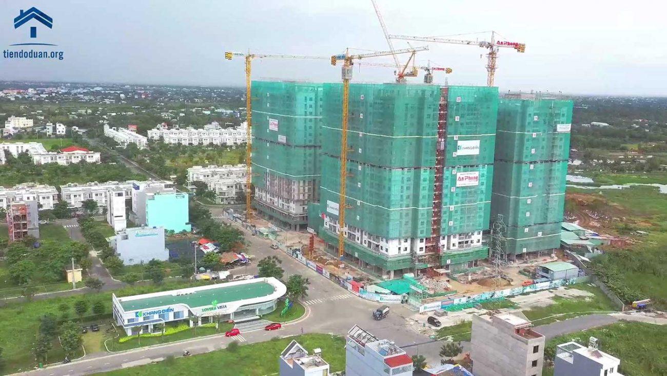 Tiến độ dự án Lovera Vista Khang Điền tháng 08/2020