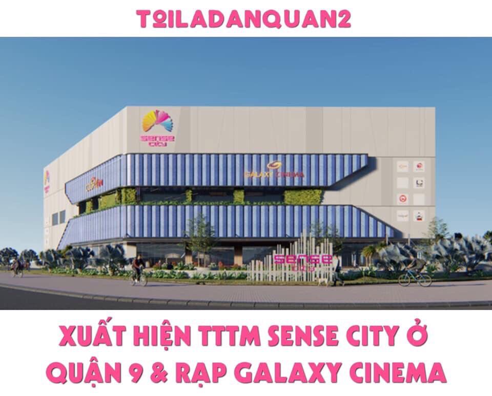 Phối cảnh dự án TTTM Sense City Quận 9