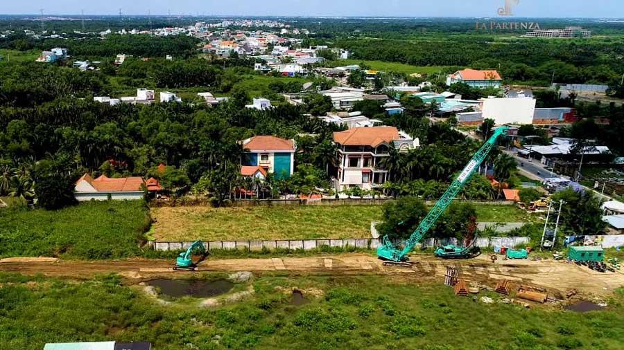 Toàn cảnh dự án La Partenza theo trục đường Lê Văn Lương