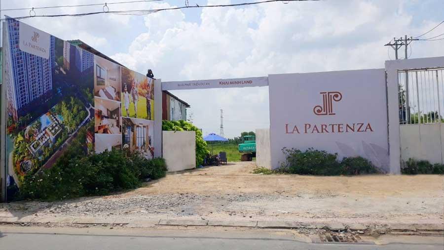 Mặt tiền dự án tại đường Lê Văn Lương