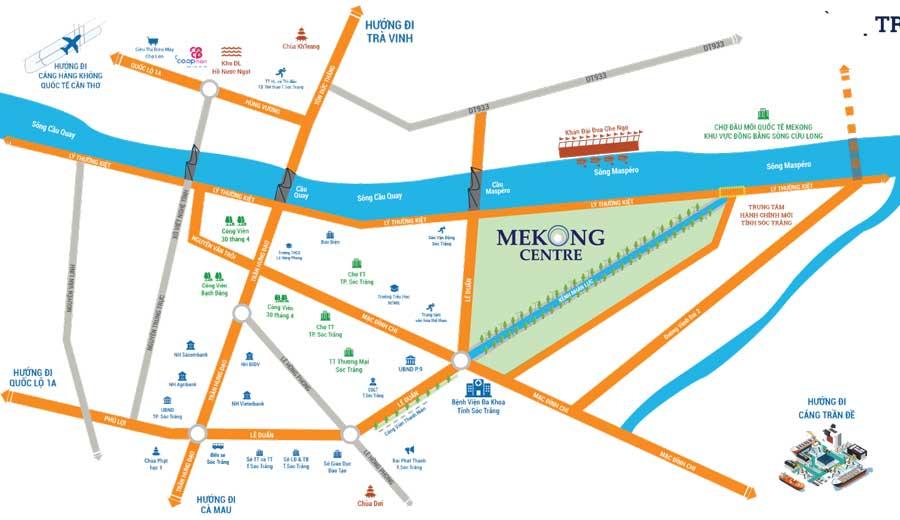 Vị trí dự án Mekong Centre