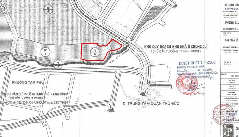 Vị trí quy hoạch dự án căn hộ Phố Đông Prosper