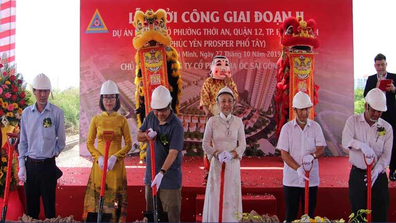 Phúc Yên khởi công dự án Prosper Phố Tây quận 12