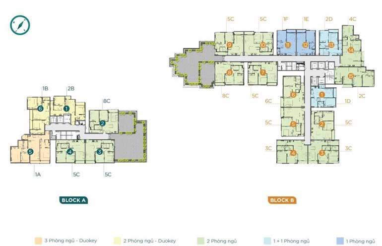Mặt bằng tầng penthouse dự án D'Lusso