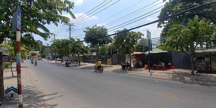 Mặt tiền dự án đường Tô Ngọc Vân