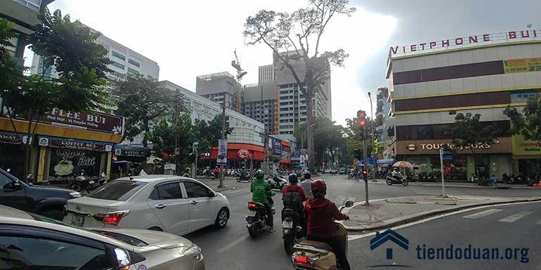 View dự án từ góc đường Đinh Tiên Hoàng