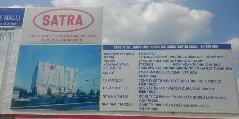 Thông tin trung tâm thương mại Satra Mall