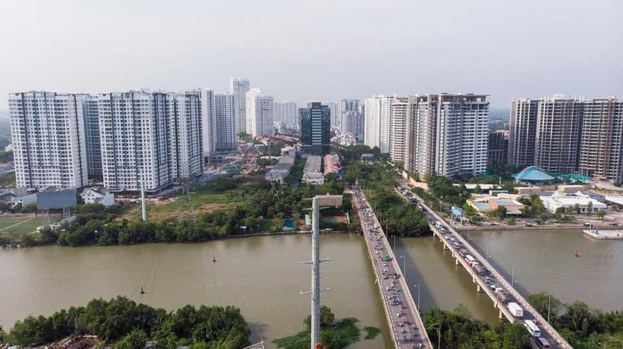 Toàn cảnh tuyến đường Nguyễn Hữu Thọ - Nhà Bè