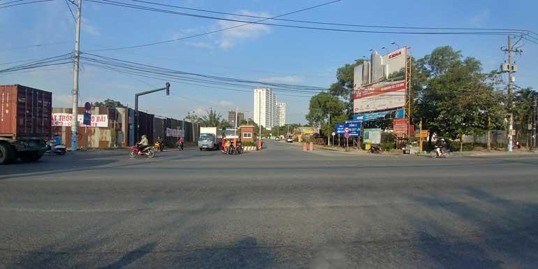 Đường vào khu dân cư Kiến Á