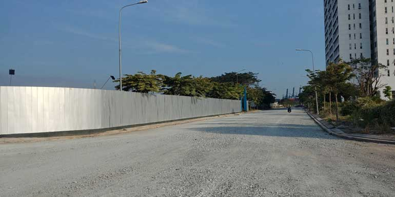 Đường trước dự án Citi Grand