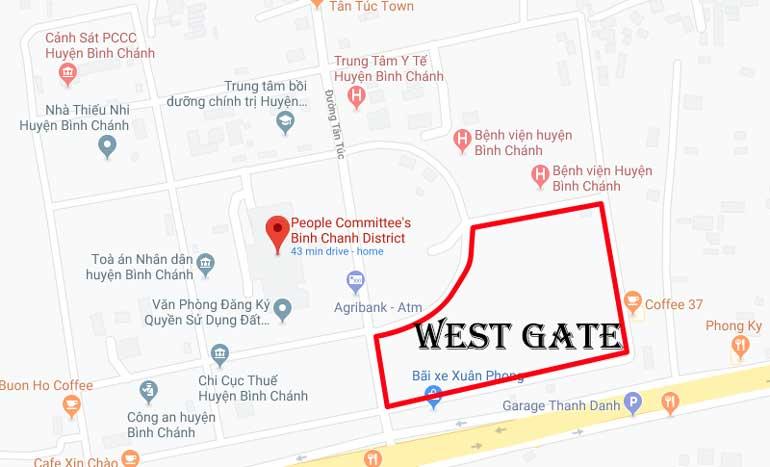 Sơ đồ vị trí dự án West Gate Bình Chánh